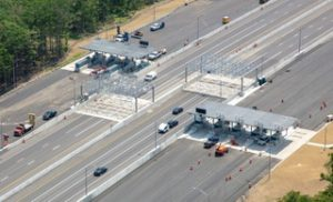 Aerial view of new York tolls